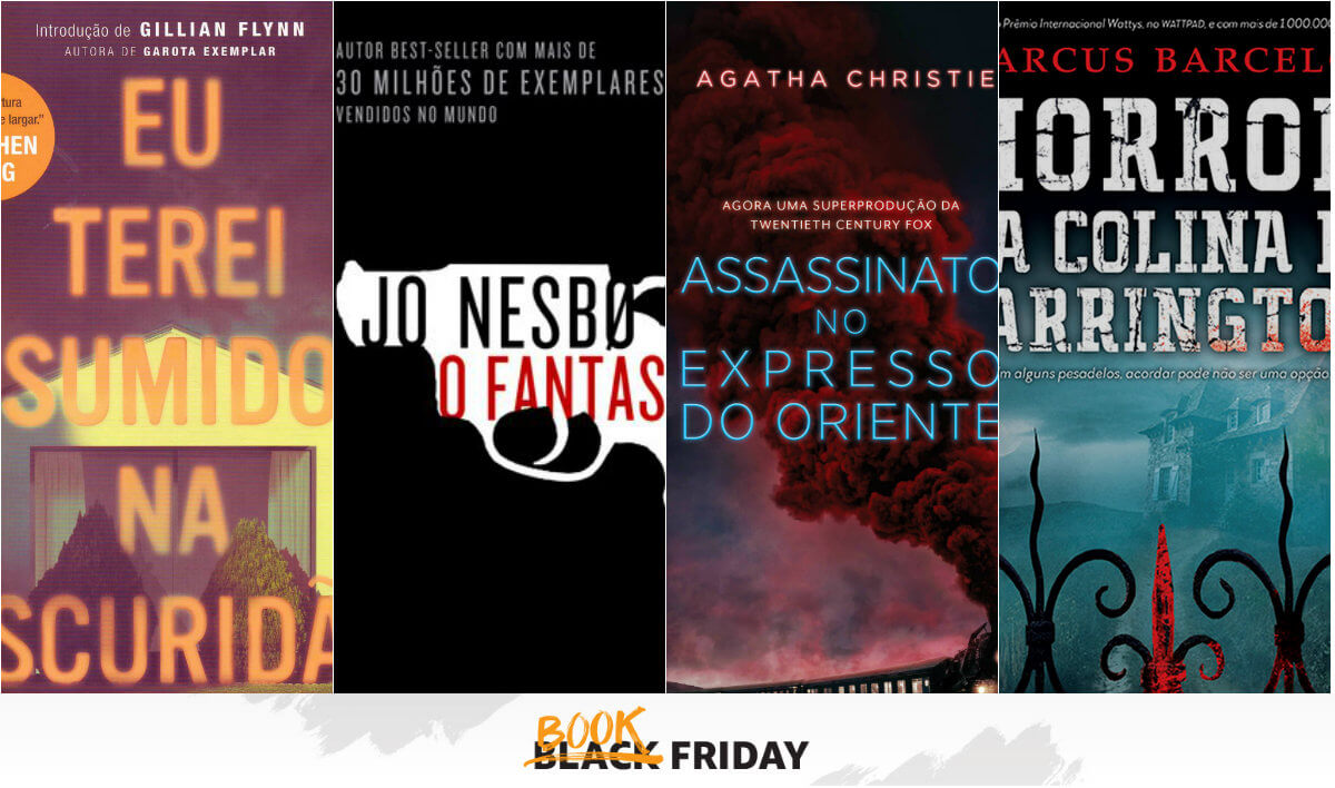 BOOK FRIDAY   Até 80% off em livros de crime, mistério e terror