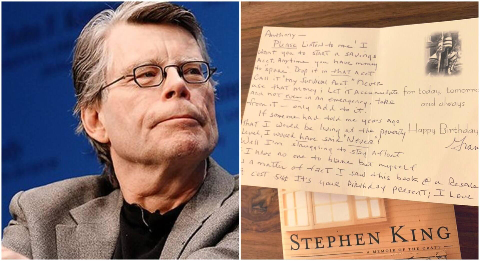Um cartão em um livro de Stephen King está deixando as pessoas tristes