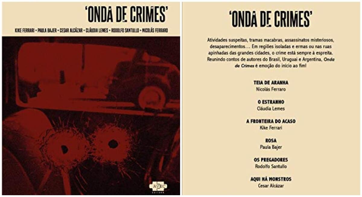 """Livro """"Onda de Crimes"""" reúne escritores da América do Sul"""