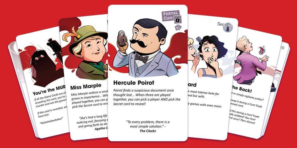 Empresa lança jogo de cartas inspirado em Agatha Christie