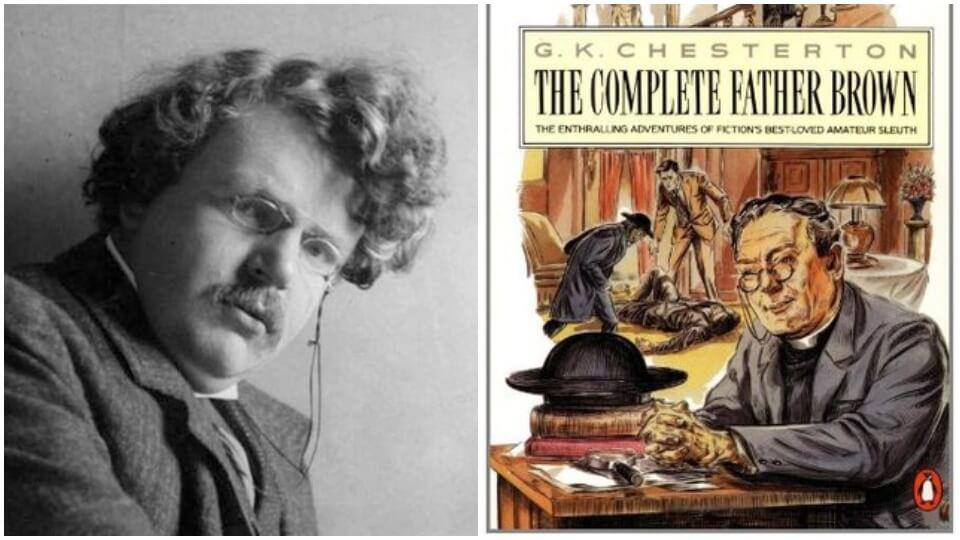 GK Chesterton é o criador de Padre Brown, religioso mais perspicaz da literatura