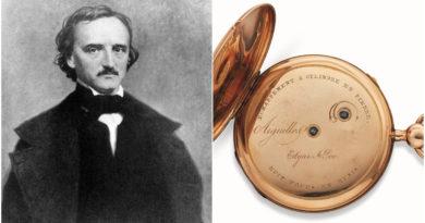 Que tal passar o tempo com o relógio de Edgar Allan Poe?