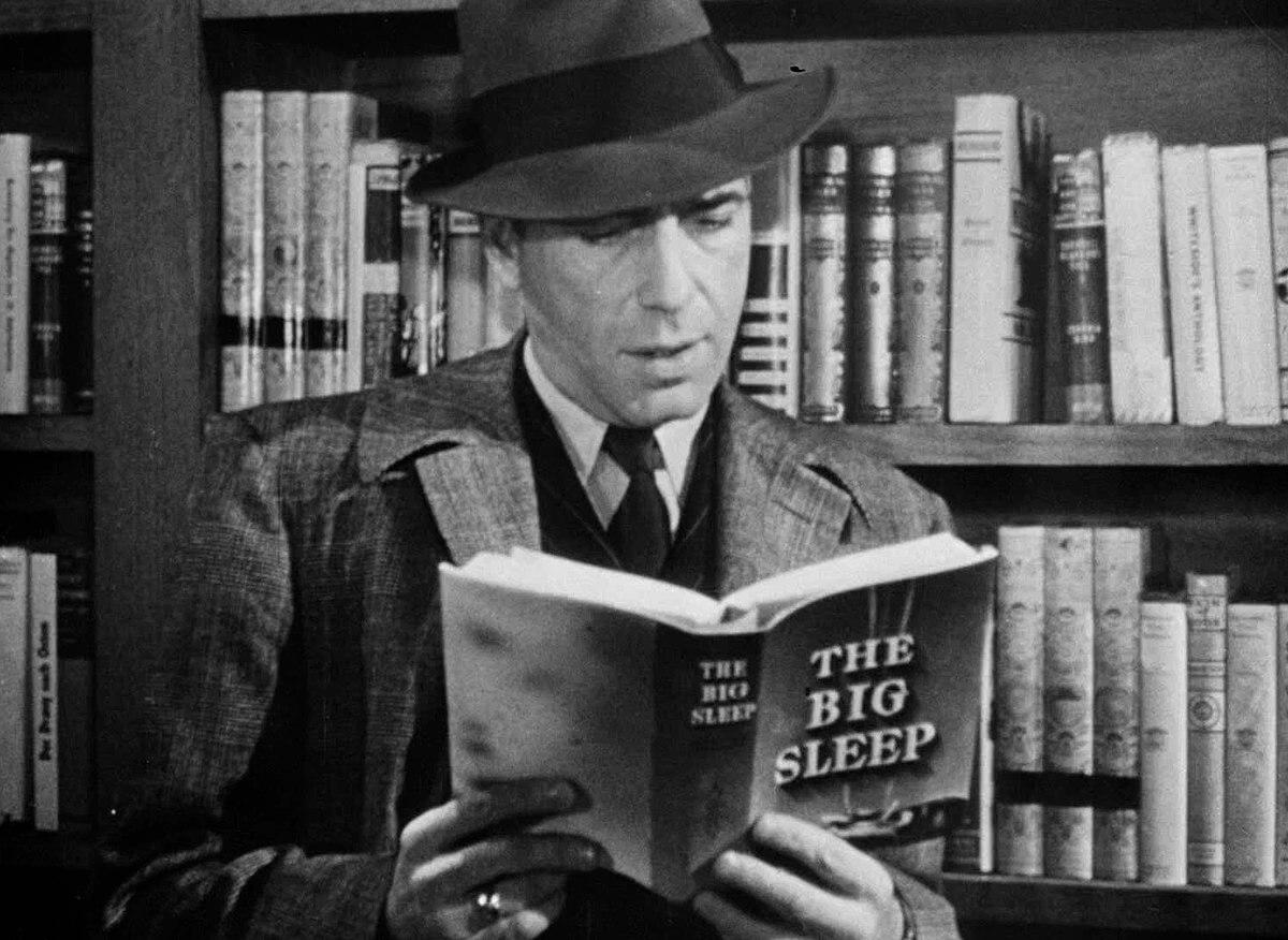 O investigador particular Philip Marlowe é um símbolo da literatura noir